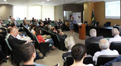 Pesquisadora  da CPRM Lys Matos Cunha durante apresentação  do estudo