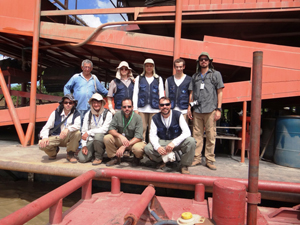 Equipe de geólogos faz visita técnica acompanhada do representante da Federação Nacional dos Garimpeiros, José Alves