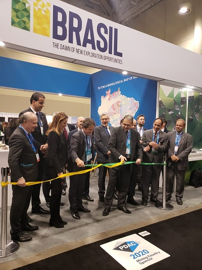 The Brazilian stand at PDAC is a partnership between the government and sector entities
